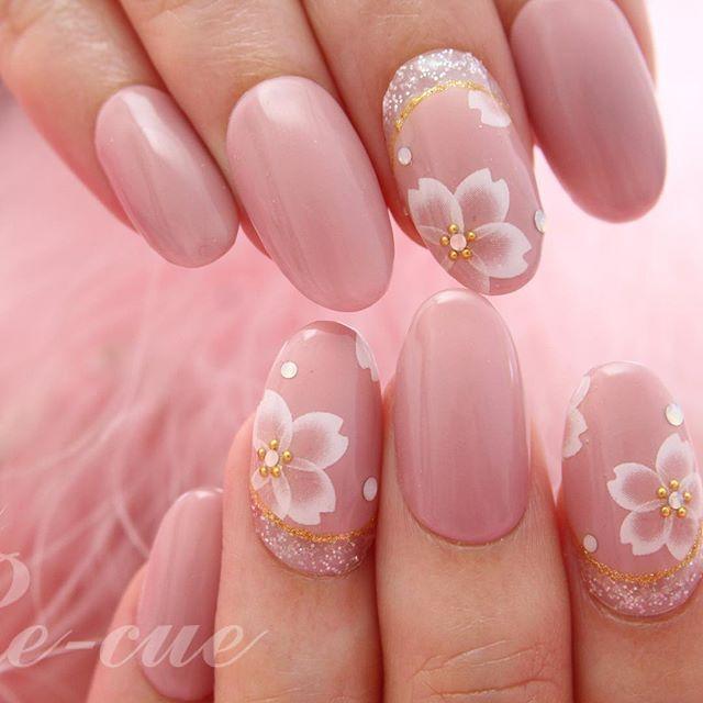 指先に桜満開♡さくらネイルデザイン画像100枚♡2017年春ネイル♡