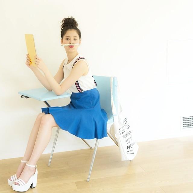 手足がとっても長い新木優子のお茶目な画像